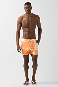 L!VE Drawstring Water Color Print Swim Trunk
