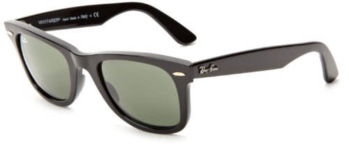 Ray Ban RB2140 Wayfarer Sunglasses-901 Black (G-15XLT Lens)-54mm
