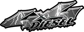 Wicked Series 4x4 Diesel Lightning Gray Decals - 6