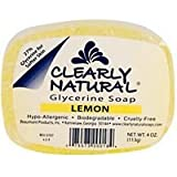 Clearly Natural: Glycerine Soap, Lemon 4 oz (3 pack)