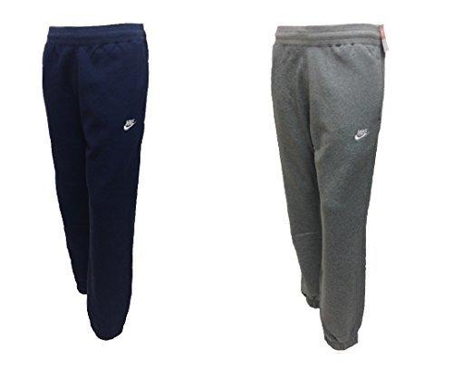 Nike-Pantaloni da jogging da uomo in pile tuta uomo Slim Fit in pile da uomo Navy/Grigio Taglie S M L XL 724302, Uomo donna, Nike Club Fleece Jog Pant, Navy, XL