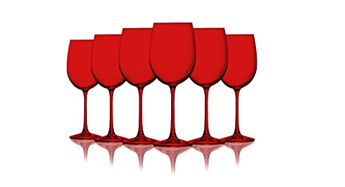 Red Colored Wine Glasses Additional Vibrant Colors Available