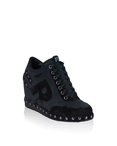 Ruco Line Keil Sneaker 2556 Studs Bijoux schwarz