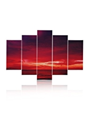 5 Drama Sunset Wall Art