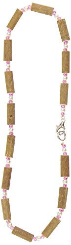 Healing Hazel Hazelwood Children Necklace, Pearl/Clear Pink - 1