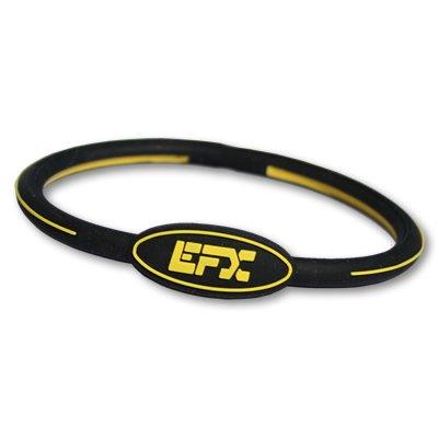 EFX Silicone Oval Bracelet, 8-Inch, Black/Yellow
