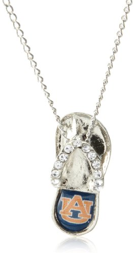 NCAA Auburn Tigers Crystal Flip Flop Necklace at Amazon.com