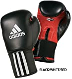 Gungfu Adidas Response Pro Boxing Gloves – Color: Black/White/Red, Size: 12 oz.