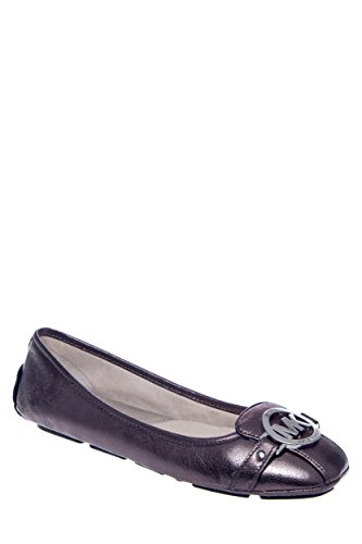 Michael Michael Kors Women'S Fulton Moc (Nickel Metallic 8.0 M)