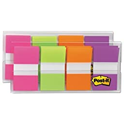 Page Flags in Portable Dispenser, Bright, 160 Flags/Dispenser, Sold as 160 Each