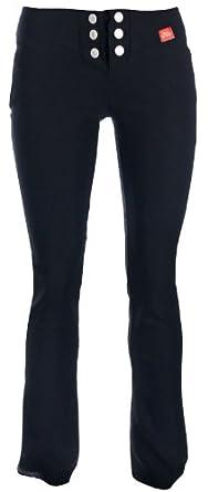 "Girls School Trousers Black Skinny Stretch Hipster Miss Sexies 29"" (Short Leg) (Six Button Boot Leg) (4, Black)"