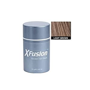 XFusion Keratin Hair Fibers Regular, Light Brown