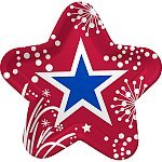 "Graphic Fireworks 9"" Dinner Plate - 8/Pkg. - 1"