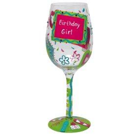 Birthday Girl, Too Wine Glass by Lolita