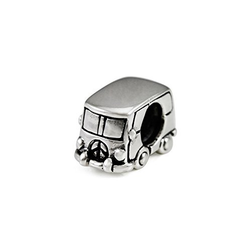Ohm Beads Sterling Silver 1960's Hippie Van Bead Charm