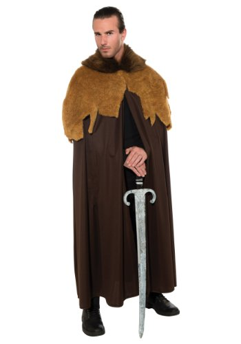 Rubie's Costume Deluxe Medieval Warrior Cloak With Faux Fur Trim Costume