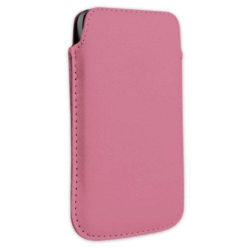 Rosa Kunstleder Handytasche Smartphone für AURO Classic 8510, Comfort 1010, 1020 und 1060