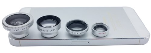 Lesung®4 In 1 Universal Magnetic Detacheable Fish Eye Lens+Macro+Wide Angle+Telephoto Lens For Iphone 4 4S 5 5S 5C Itouch Ipad Samsung Galaxy S3/I9300/S4/I9500/Note 1/2/3