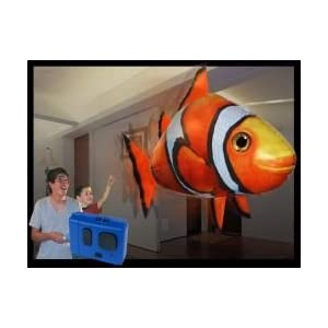 clown fish flying fish toy