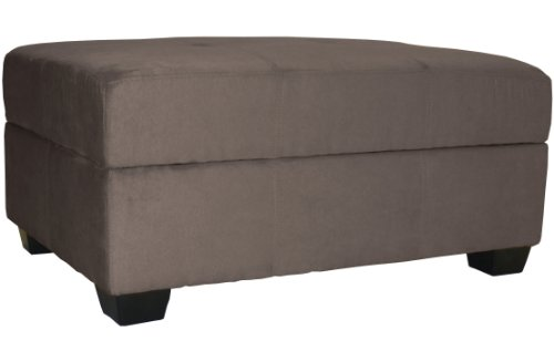 Epic Furnishings 36 by 24 by 18-Inch Storage Ottoman Bench, Slate Grey