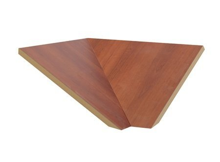 "Sloping Hood Corner Filler Color: Cherry, Size: 6.63"" H X 21"" W X 20"" D front-545478"