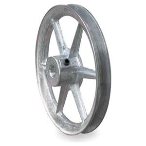 V-Belt Pulley, 6 In OD, 1 In Bore, 1GRV