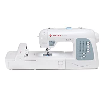 SINGER Futura XL-400 Computerized Sewing and Embroidery Machine with 18.5-by-11-Inch Multihoop Capability Including 2 Hoops, 125 Embroidery Designs, 5 Monogramming Fonts