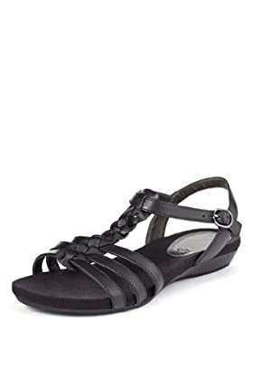 Footglove Leather Wide Fit Plait Gladiator Sandals [T02-9161W-S]