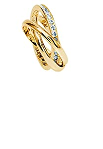 Simply Glamorous Jewellery And Gifts Shop - Russian Wedding Band/Rolling Ring with Diamond set In 18ct Gold Filled - L