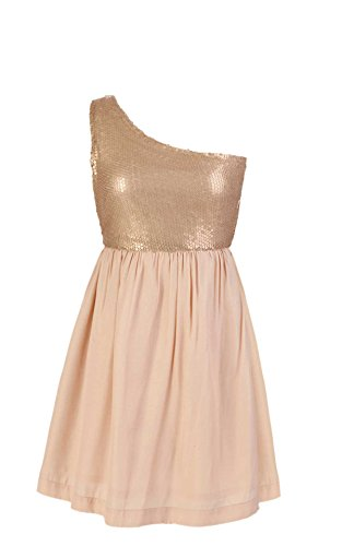 Dance Fever Women Party Dress CHAMPAGNE X-Small