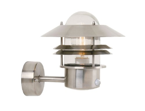 Nordlux Blokhus Stainless Steel Outdoor Wall Light with Sensor