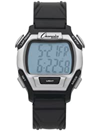 Champion Sports Sport And Referee Watch, One Size Fits Most/black/silver Grey
