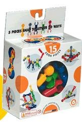 Infinitoy 0Z11015 Experience Unlimited Creative Building with ZOOB - 15 Piece Set