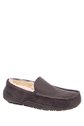 Ugg Australia Men'S Ascot Suede Slippers, 9, Charcoal front-1051218