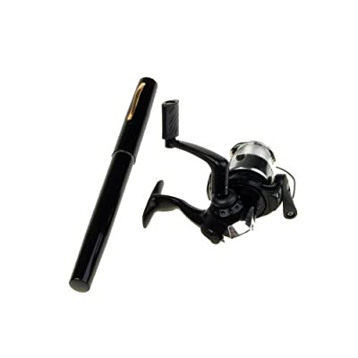 Telescopic Saltwater 39inch Fishing Rod Black Pen Pole Reel Nylon Line from NEEWER