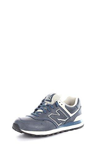 Scarpe uomo tempo libero, New Balance M574LUB, art. NBML574LUB, colore blu, tomaia in pelle