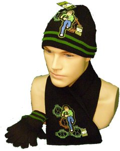 Boys Ben 10 Hat,Gloves and scarf set