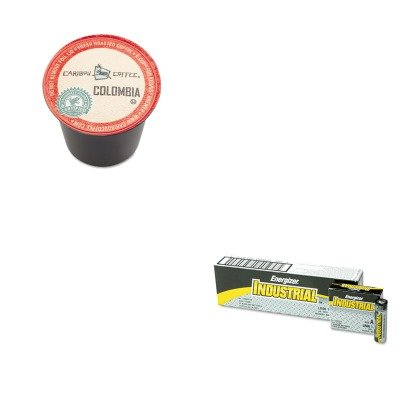 Kiteveen91Gmt6997 - Value Kit - Green Mountain Coffee Roasters Colombia Coffee K-Cups (Gmt6997) And Energizer Industrial Alkaline Batteries (Eveen91)