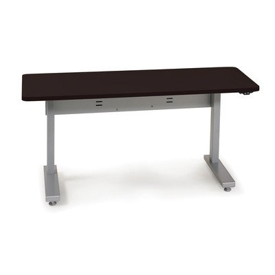 "Anthro Ergonomic Elevate Ii Advanced Electric Lift Computer Table Laminate Color: Wenge, Size: 48"" W X 23.25"" D"
