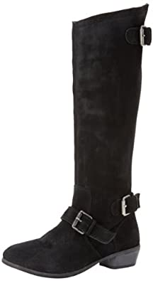 Naughty Monkey Women's Beasty Riding Boot,Black,6 M US