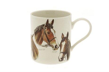 Leonardo - Tazza in porcellana fine, motivo: corsa di cavalli, in confezione regalo