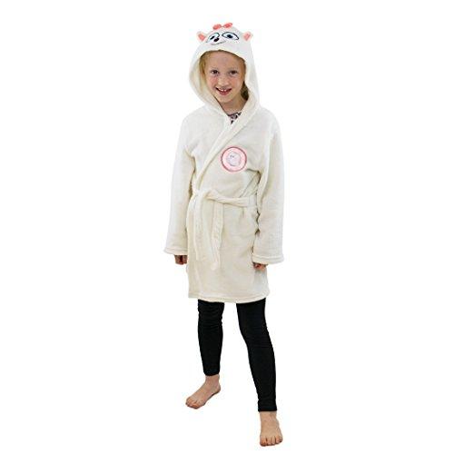 The Secret Life Of Pets Gidget Kids Hooded Fleece Bathrobe Dressing Gown