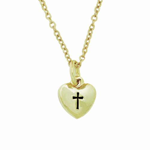 Heart with Cross Pendant Necklace