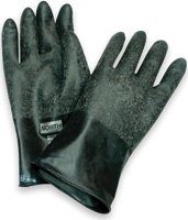 Large Butyl Gloves With Curved Hand Design For Comfort And Smooth Finish