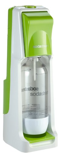 SodaStream Wassersprudler Cool Megapack (mit 1 x CO2-Zylinder 60L, 2 x 1L PET-Flaschen und 2 x 0,5L PET-Flaschen, 6 x 42ml Sirup-Pack), grün