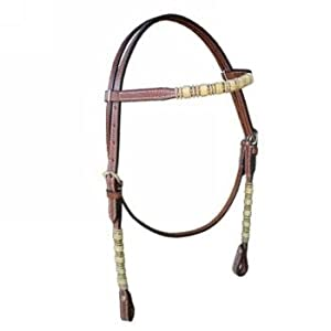 Browband Headstall with Rawhide Accents