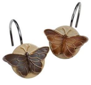 Bora Bora Butterfly Shower Curtain Hooks Home Kitchen