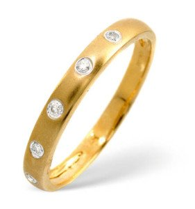 JR Jewellery 2.5mm Yellow Gold Diamond Eternity / Wedding Band Ring