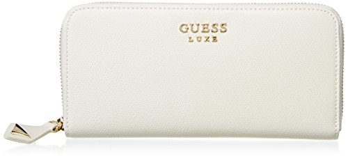 Guess Lady Luxe Large Zip Around Org Portamonete, BEI