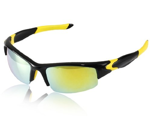 Sports Polarized Sunglasses (Black & Yellow) akg hm1000